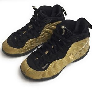 Nike Foamposite Gold Toddler Size 11C